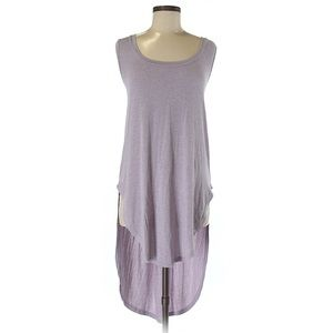 Deletta Long Tank Top Tunic Light Purple